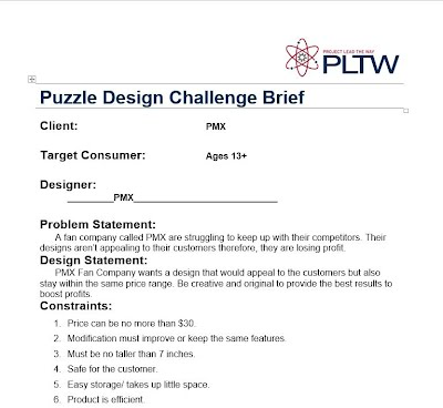 house design brief template for architect - reverse engineering pmx fan pltw engineering