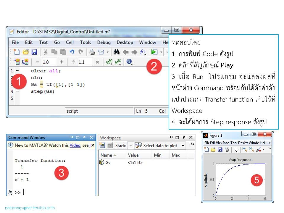 Using MATLAB/Simulink to step response of the transfer function