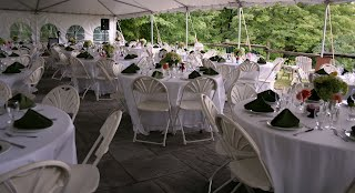 1500 sq foot patio seats up to 120 Portage Inn