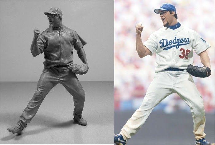 art sculpture dodgers pitcher