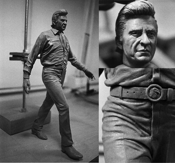 johnny cash portrait sculpture