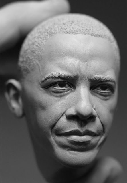 barack obama portrait sculpture