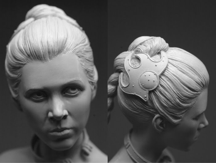 princess leia portrait sculpture