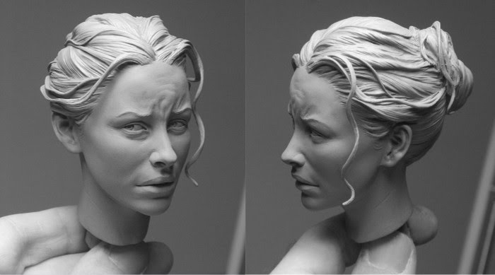 woman portrait sculpture