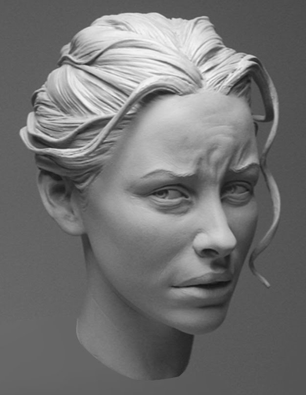 portrait sculpture woman