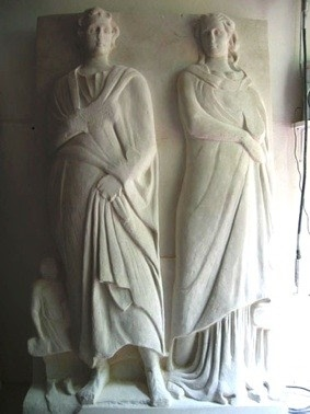 hi bas relief figurative sculpture by gary churchman