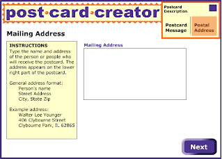 letter postcard writing postcard creator