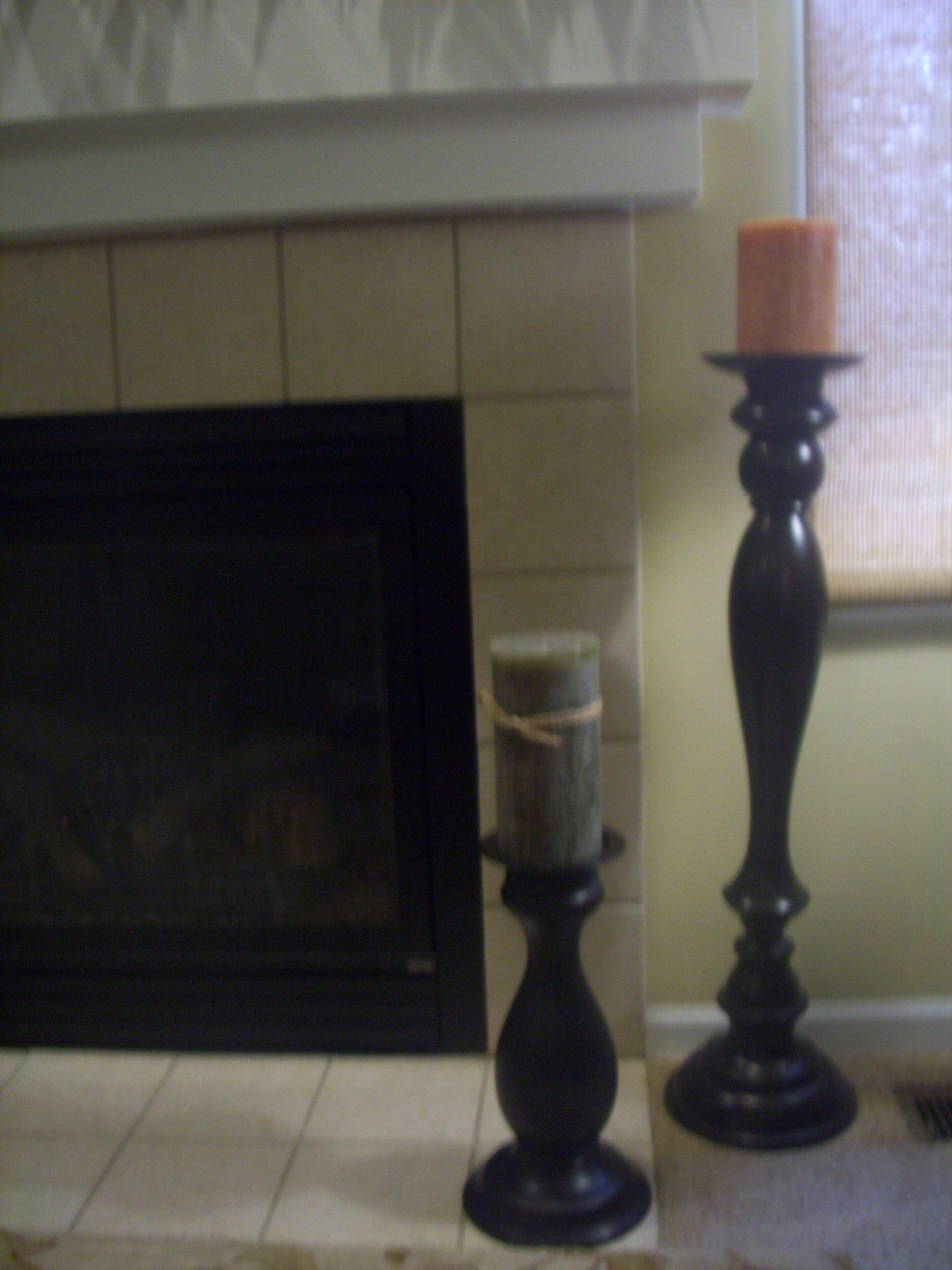 candle holder in front of fireplace thesecretconsul com