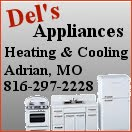 Del's Appliance Heating and Cooling, Adrian, MO