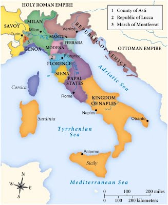 geographical map of italy Renaissance Italy: Map   profdavidkatz