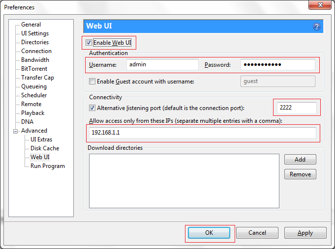 Ui remote access