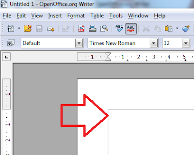 How to remove border line in open office writer - Project