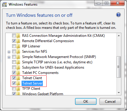 How to enable telnet in windows 7 - Project Code Bank