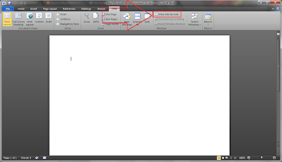 Compare two documents (* doc/* docx) in MS Word 2010