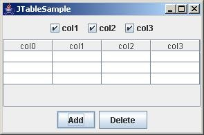 Adding rows and columns in JTable dynamically - Project Code