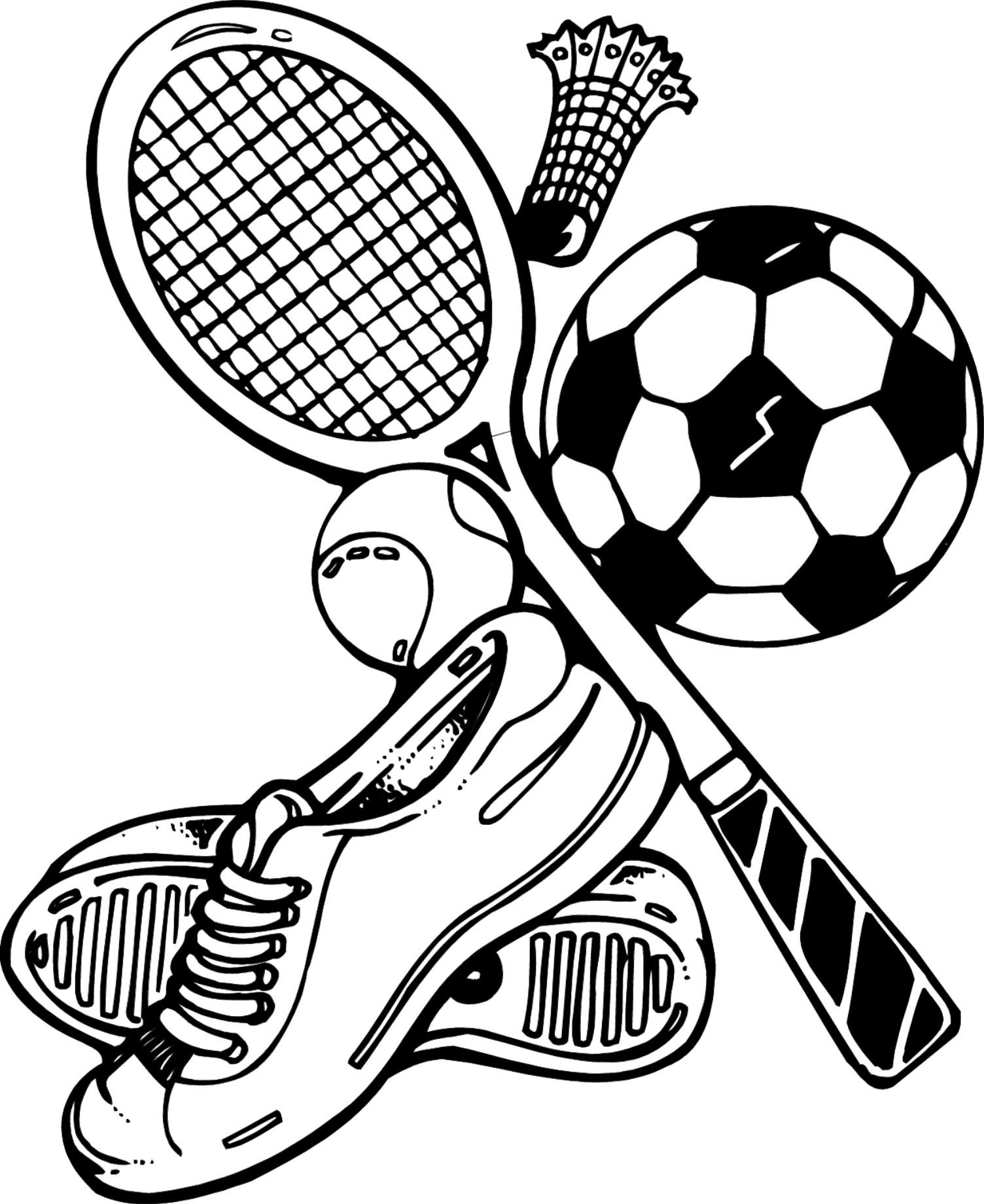 sports equipment coloring pages | projectyear2savant