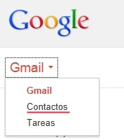 Importar contatos do Gmail