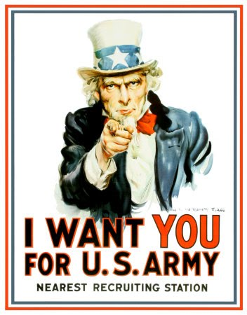 Uncle Sam needs you...