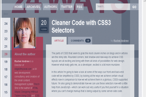 Cleaner Code with CSS3 Selectors