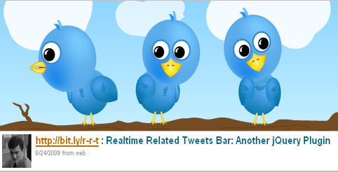 Realtime Related Tweets Bar