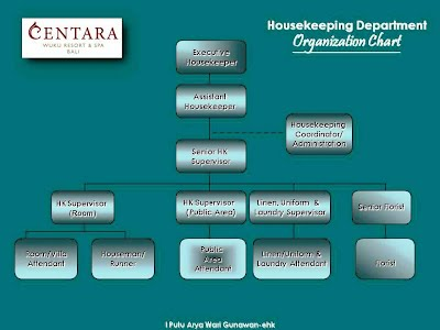 How far do you know about housekeeping department putu arya wari to operate his organization the executive housekeeper is helped by assistant executive housekeeper senior housekeeping supervisor housekeeping floor altavistaventures Gallery