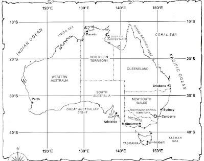Map Of Australia Longitude And Latitude Lines.Week 5 Map Coordinates Mr J S Social Studies Class
