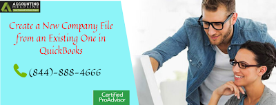 Create a New Company File from an Existing One in QuickBooks
