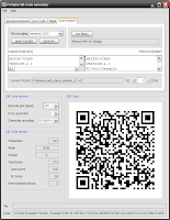 Screenshot QR-Code Generator, VCard import, Windows, english