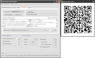 Screenshot QR-Code Generator, Windows, deutsch