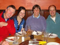 QCTC mixed team, well fed and watered, socialising at the White Hart Inn on an outing to Martock