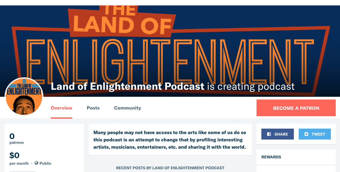 https://www.patreon.com/landofenlightenmentpodcast?alert=2
