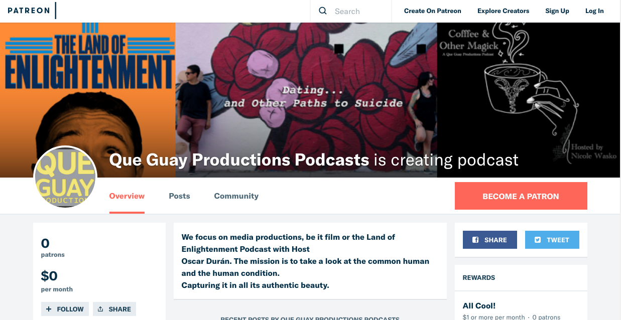 https://www.patreon.com/queguaypodcasts