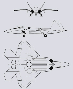 F-22 Raptor 3 views