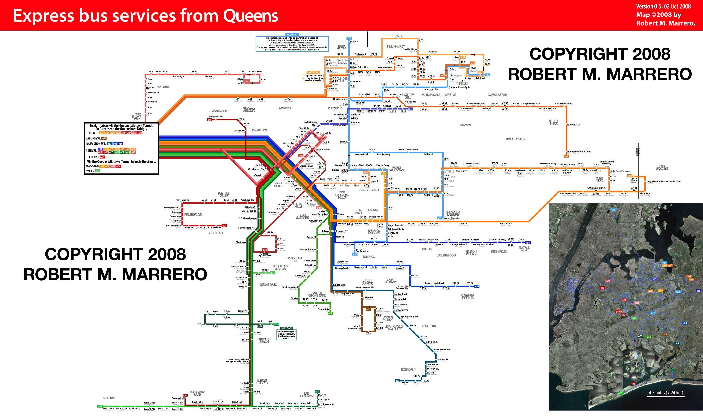 R - Queens bus map