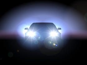 The Effulgence Of The Caru0027s Headlights Blinded Me Because Of The Brilliant  Radiance.