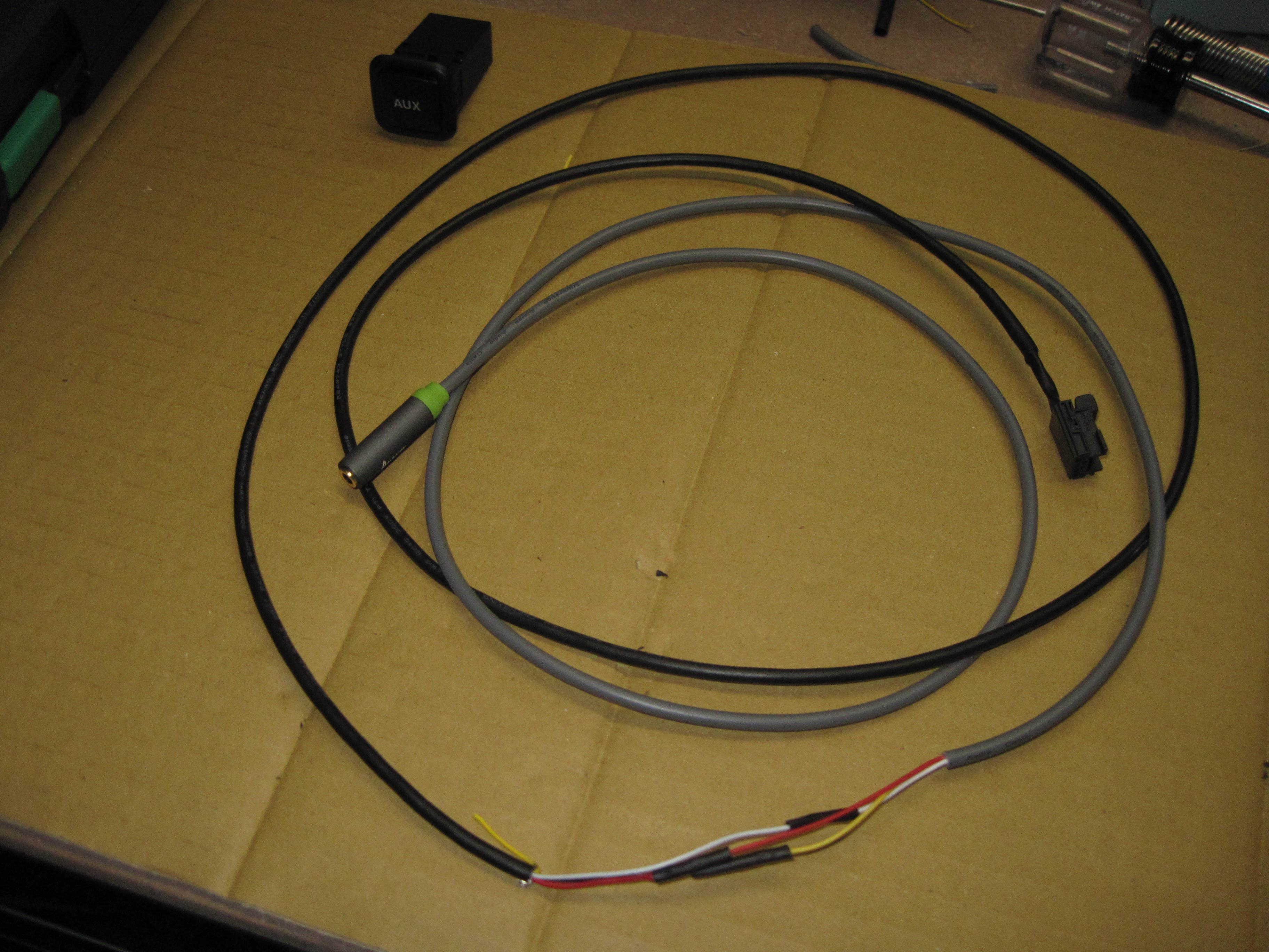 B8 Ami Aux Input In Center Console Storage Box Cable Wiring Finished Audio Extension And Connector