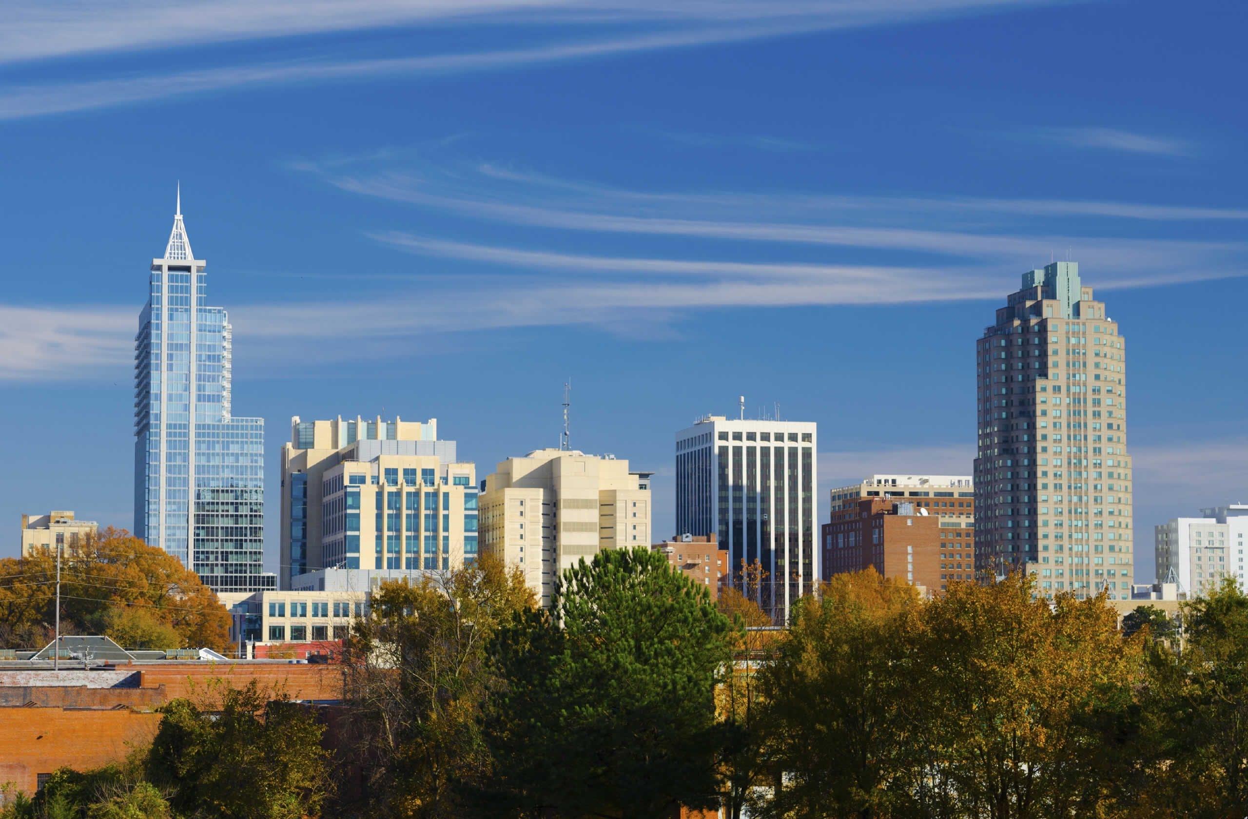 We're located in downtown Raleigh, NC