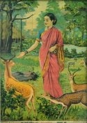Raja Ravi Varma print Seetha and the golden deer