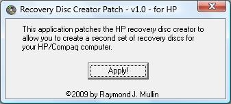 create hp recovery disc