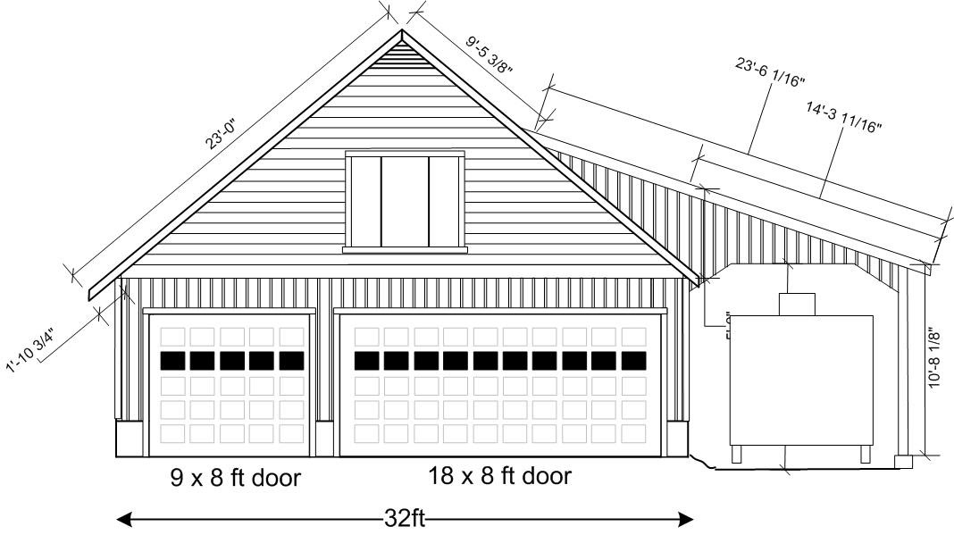 Theplans rbgarage for 18x8 garage door