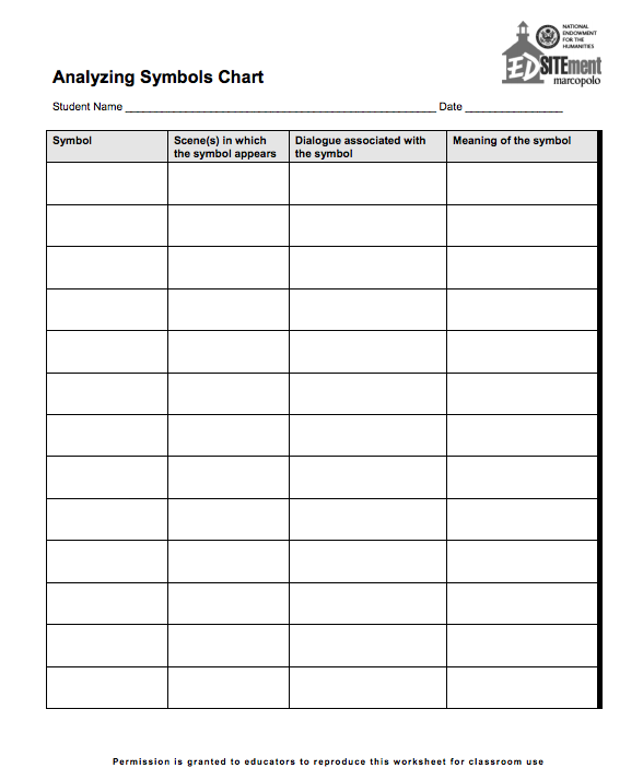 Identifying Symbolism Worksheet S Free Symbol And Sign Meaning. Identifying And Analyzing Symbolism Reading Literature. Worksheet. Symbol Worksheet At Clickcart.co