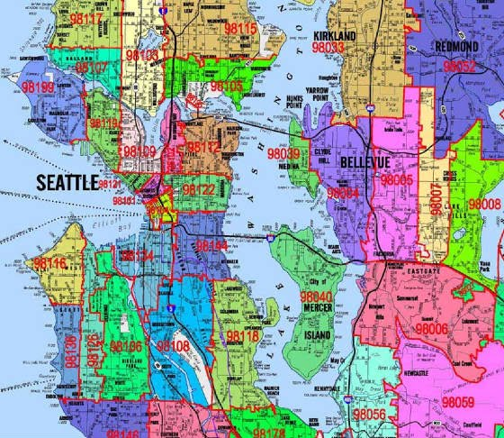 seattle zipcode map - RE research