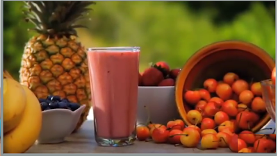 Red fruit used in detox smoothie