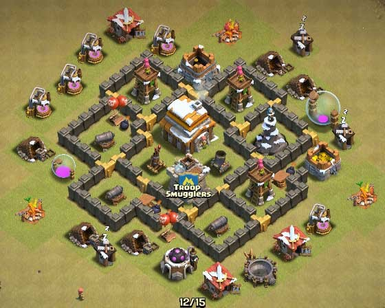 town hall 5 clash of clans tips and layouts