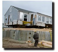 House being elevated
