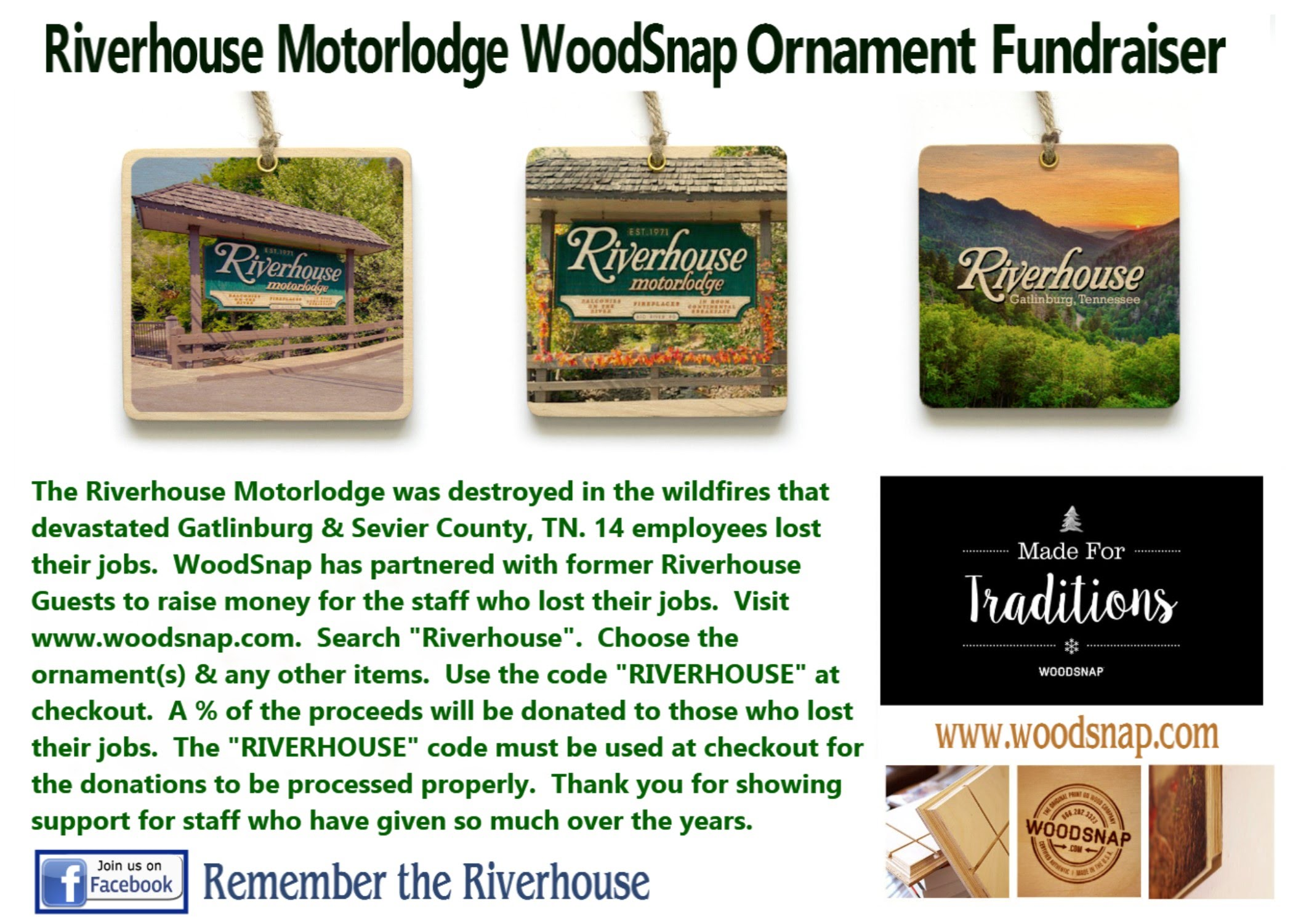 "Riverhouse Motorlodge guests were deeply saddened to learn that their ""home away from home"" was destroyed in the wildfires that swept through Gatlinburg, ..."