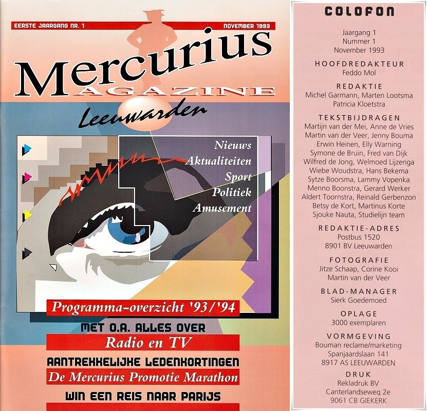 Mercurius Magazine met Colofon