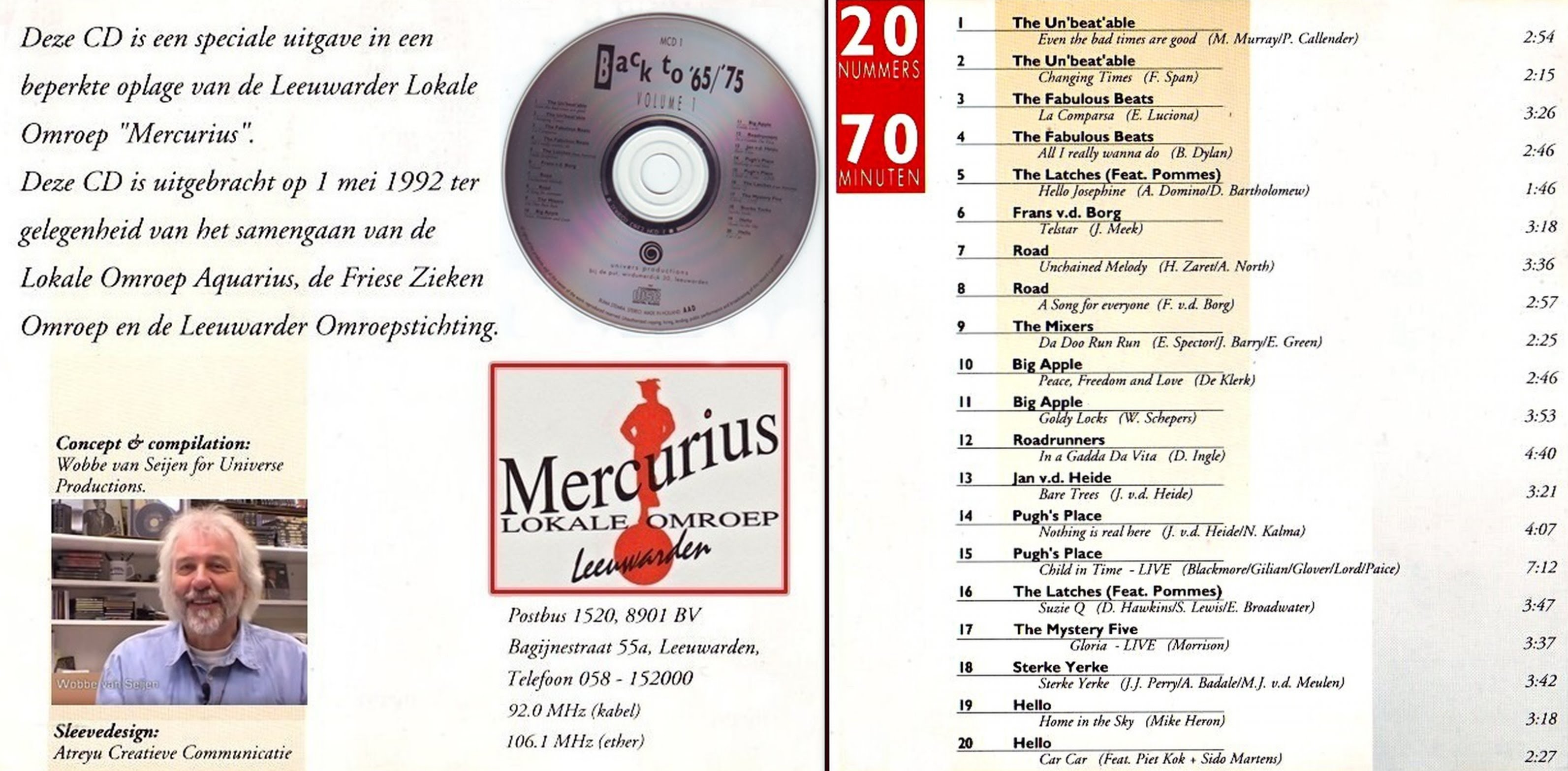 Mercurius CD met info