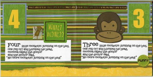 Reminisce Stickers Monkey Business Little Monkey