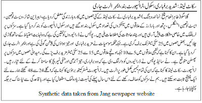 Research on Urdu LanguagE (RULE)